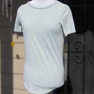 PINK Victoria Secret blue stretchy Tee-shirt sz XS